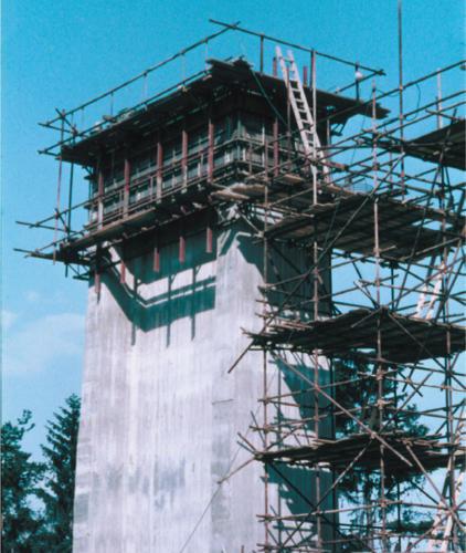 Betonáž pilíře.